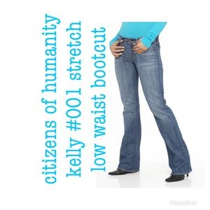 citizens of humanity stretch low waist bootcut 25